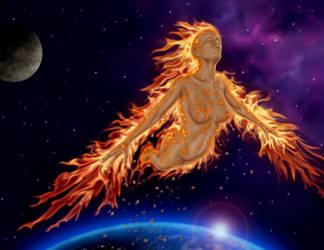 Phoenix Eternal by dragynsart