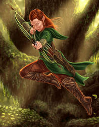 Tauriel by dragynsart