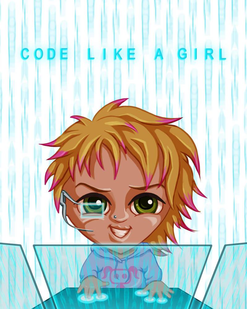 Code Like A Girl by dragynsart