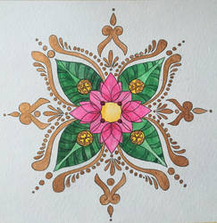 Watercolour Kolam by charmie