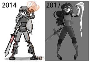3 years of improvement by sketchbagel
