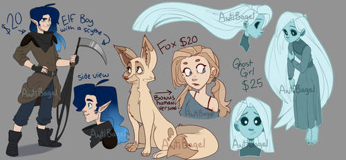 Adoptable Grab Bag - OPEN only one left! by sketchbagel