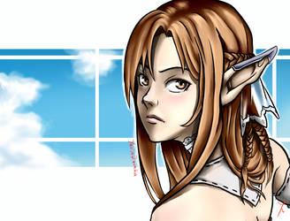 Fanart Asuna's Titania Avata by YahyaDiatmika