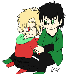 Norikazu and Koji Brotherly bonding by Noizy-Bunny