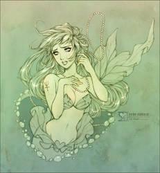 Melancholic Water Nymph by daekazu