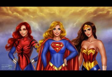 Super Girls by daekazu