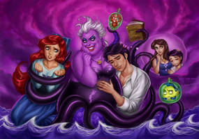 Little Mermaid vs Ursula by daekazu