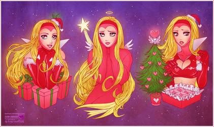 Pink Christmas by daekazu