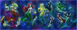 Mermaids + Sisters by daekazu