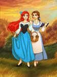 Ariel + Belle by daekazu
