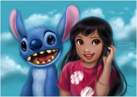 Lilo and Stitch by daekazu