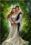 Brenna and Talon by daekazu