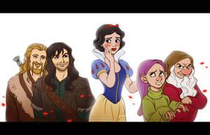 Snow White: Dwarf Sitter by daekazu