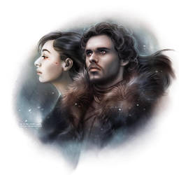 Game of Thrones: Robb and Talisa by daekazu
