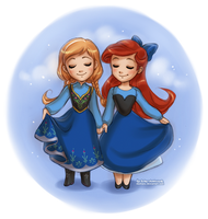 Anna and Ariel by daekazu