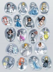 Winter Disney Princesses Collection by daekazu