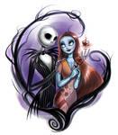 Nightmare Before Christmas: Jack and Sally by daekazu