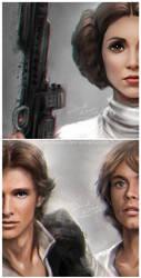 Star Wars: A New Hope by daekazu