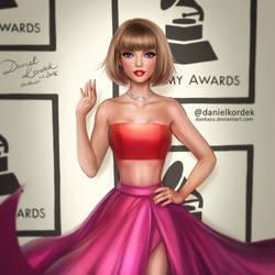 Taylor at Grammys by daekazu