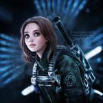 Rogue One: A Star Wars Story: Jyn Erso by daekazu