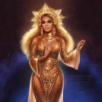 Beyonce at the Grammys by daekazu