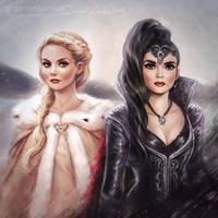 Once Upon a Time: Emma + Regina by daekazu