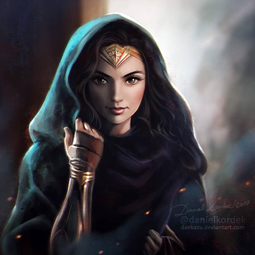 Wonder Woman Portrait by daekazu