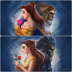 Beauty and the Beast: 2 versions by daekazu