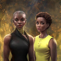 Black Panther: Okoye + Nakia by daekazu