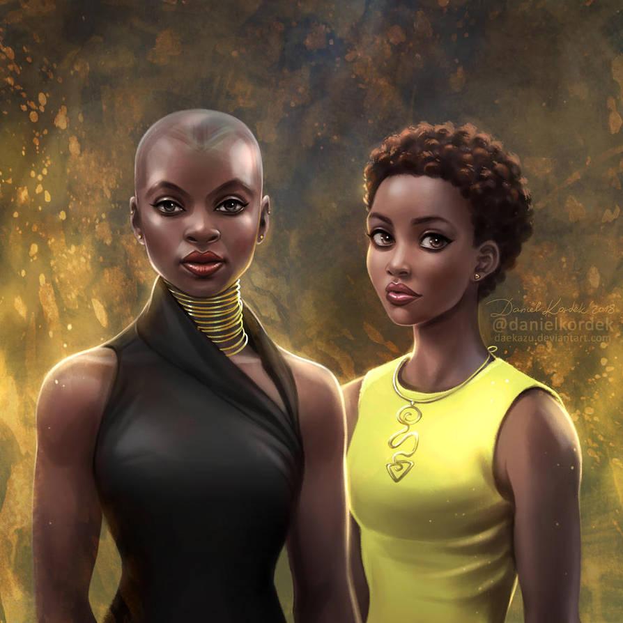 Black Panther: Okoye + Nakia by daekazu