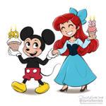 MIckey and Ariel by daekazu
