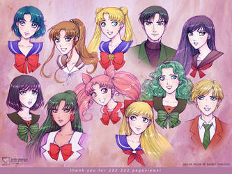 Sailor Moon: team by daekazu