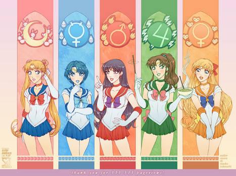 Sailor Moon: 5 Warriors by daekazu