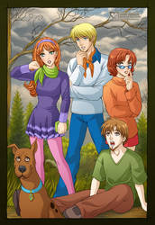 Scooby-Doo + Team by daekazu
