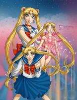 Sailor Moon: MoonPower MakeUp by daekazu