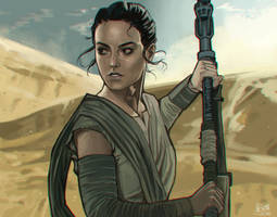 Rey - Star Wars by justyna-bien