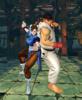 Ryu X Chun-Li by TheDeadstroke