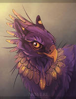 Purple Gryphon. by Noxeri