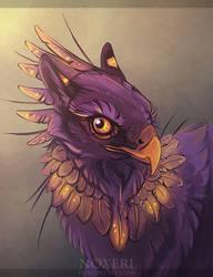 Purple Gryphon. by Noxeri