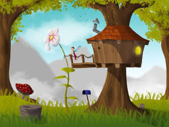 Pixie tree house by TheCoredump