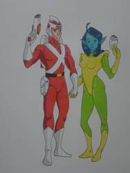 Adam Strange and Alanna by kryptonator