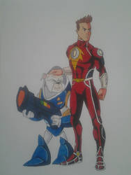 Captain Comet and his talking dog Tyrone by kryptonator