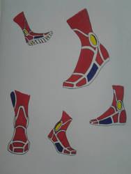 Captain Comet feet study by kryptonator