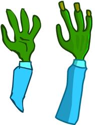 Zombie Hand by Helgiii