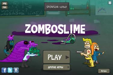 Zomboslime main menu screen by Helgiii