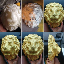 Lion head medallion by IG: F3props by Jade911