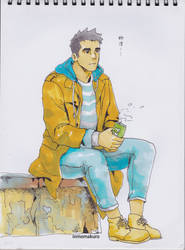 sitting by inmomakuro