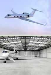 Gulfstream G550 business jet by checkczech