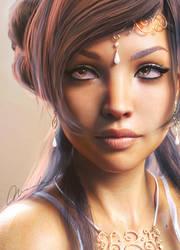 Olivia Portrait by MayaMiarka