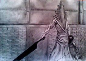 Pyramid Head Silent Hill by DanloS